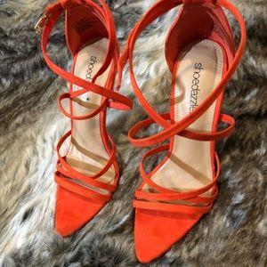 Orange ShoeDazzle Heels